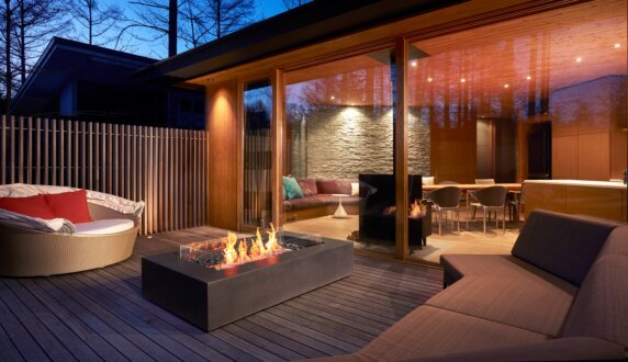 Private Residence - Wharf Fire Table by EcoSmart Fire