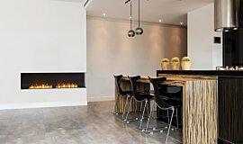 Kitchen Area Kitchen Interior Designs Built-In Fire Idea