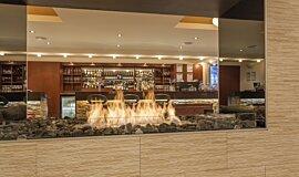 Black Salt Restaurant Hospitality Fireplaces Built-In Fire Idea