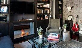New York Loft Builder Fireplaces Built-In Fire Idea