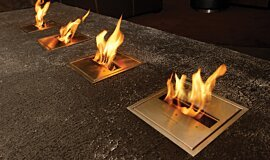 Long Room  Commercial Fireplaces Ethanol Burner Idea