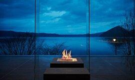 The Lake View Toya Nonokaze Resort Landscape Fireplaces Ethanol Burner Idea