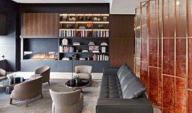 St Regis Hotel Bar Hospitality Fireplaces Built-In Fire Idea