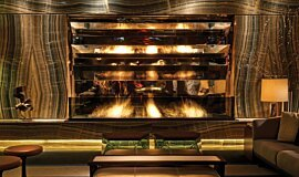 Paramount Hotel Hospitality Fireplaces Built-In Fire Idea