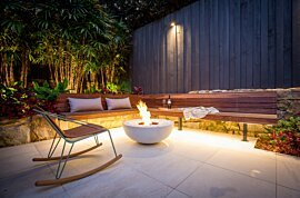 Mix 850 Freestanding Fireplace - In-Situ Image by EcoSmart Fire
