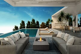Manhattan Outdoor Fireplace - In-Situ Image by EcoSmart Fire