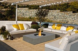 Martini Outdoor Fireplace - In-Situ Image by EcoSmart Fire