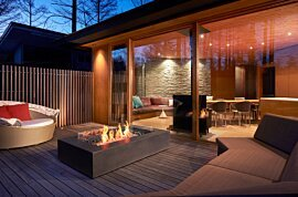 Wharf Freestanding Fireplace - In-Situ Image by EcoSmart Fire