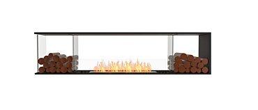 Flex 86PN.BX2 Peninsula Fireplace - Studio Image by EcoSmart Fire