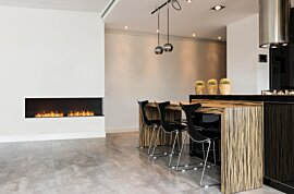 Right Corner Fireplace - In-Situ Image by EcoSmart Fire